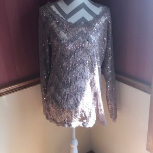 Victoria's Secret Moda Intl. lace & sequin top